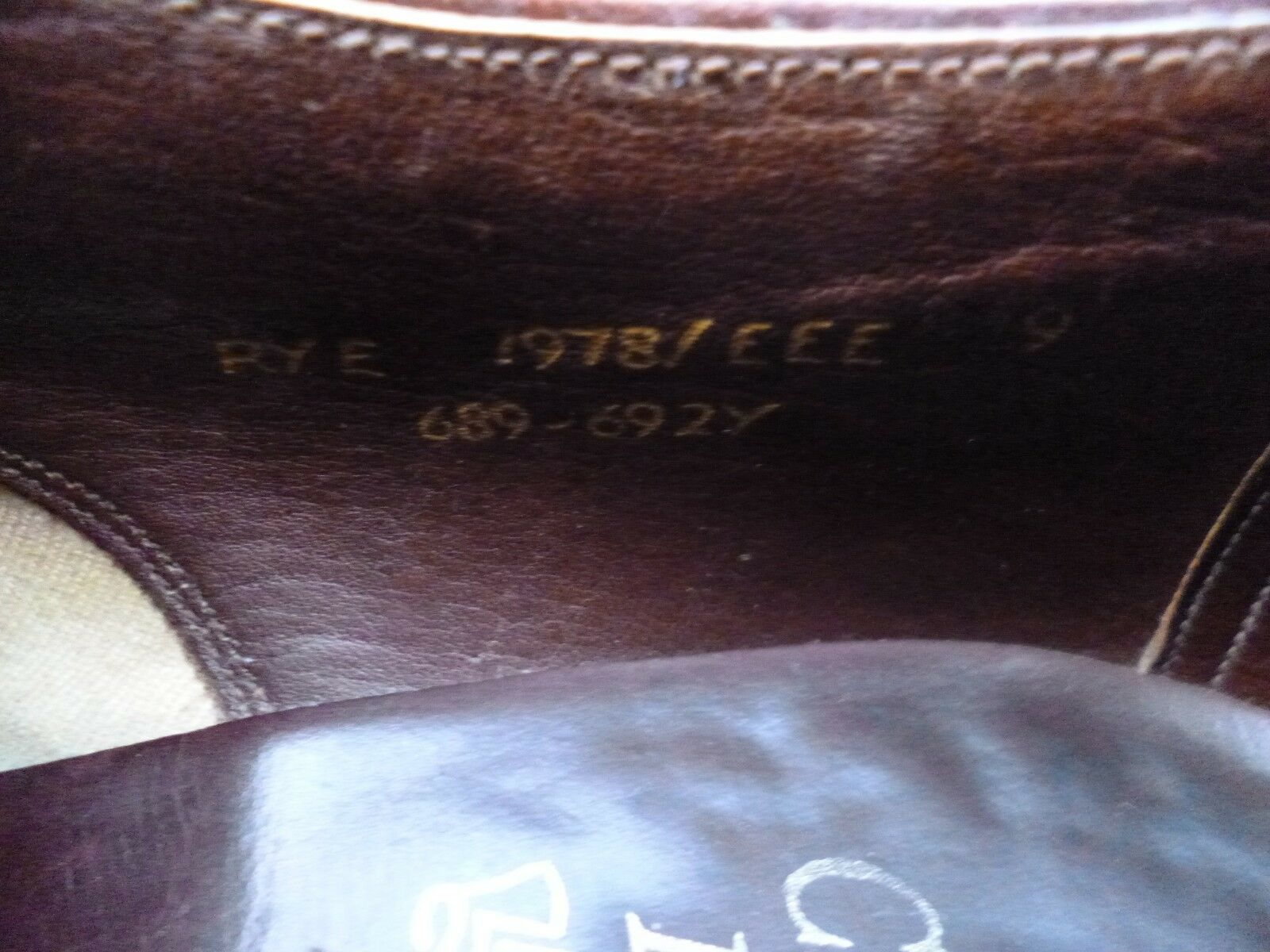 CHEANEY / CHURCH VINTAGE DERBY – BROWN 9 / TAN - UK 9 BROWN – RYE – EXCELLENT CONDITION 1e0022