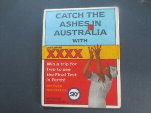 1-only-CASTLEMAINE-XXXX-overseas-issue-United-Kingdom-Cricket-Beer-COASTER