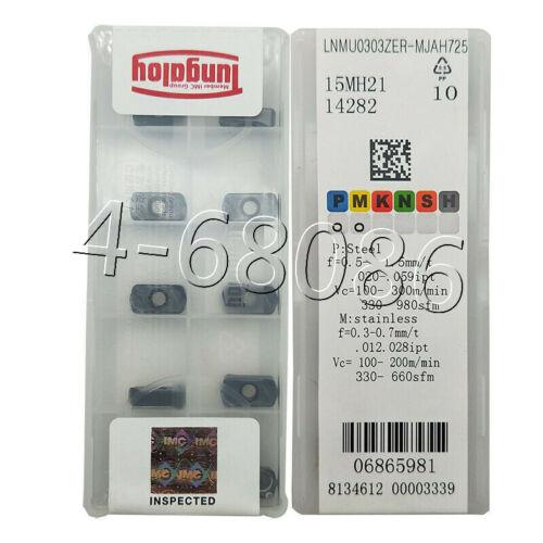 10pcs LNMU 0303ZER MJ AH725 Carbide Inserts Milling Cutter Inserts high quality