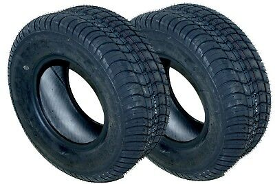 2x Load Star 205//65-10 DOT 6 Ply K399 Tread Load Range C Tubeless Trailer Tire