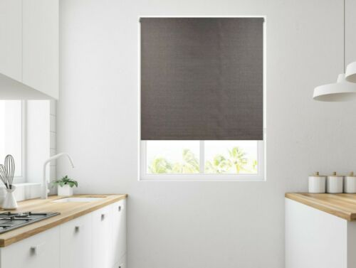 Monaco Textured Thermal Blackout Roller Blinds 3 Colour Options