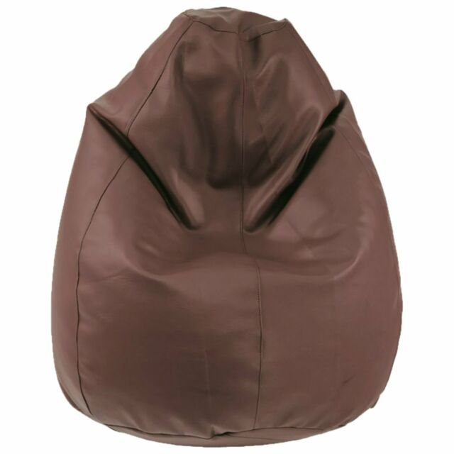Astonishing Bean Bag Cover Without Beans Brown Cover Leatherette L Xxxl Size Extra Large Gmtry Best Dining Table And Chair Ideas Images Gmtryco