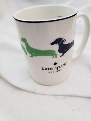 KATE SPADE 1  WICKFORD DACHSHUND TURQUOISE 10 OZ MUG COFFEE CUP NEW RARE!