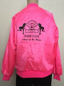 590590eaa VTG 80s CHAPTER II Nude/Stripper LIVE SHOW CLUB HOT PINK SATIN ...