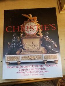 Christie S Auction Catalog Important European Furniture Tapestries Carpets Ebay