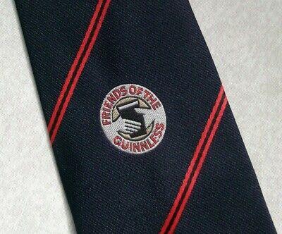 Vintage Cravatta Da Uomo Cravatta Amici Della Guinnless Guinness Crested Logo Aziendale-