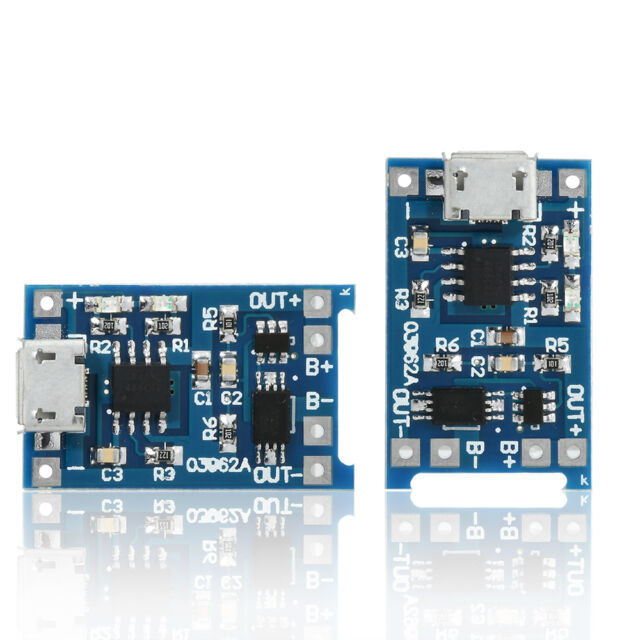 New 2PCS Micro USB 1A 18650 Lithium Battery Charging Board Charger Module 5V