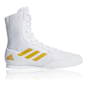 adidas Mens Box Hog Plus Boxing Shoes White Sports Lightweight Trainers