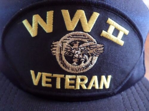 U.S MILITARY WWII VETERAN RUPTURED DUCK MILITARY BALL CAP ADJUSTABLE U.S.A MADE