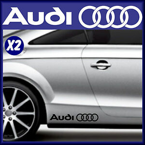 Audi-voiture Autocollants En Vinyle X 2-anneaux Logo-voiture Graphics-stickers-corps Mod-afficher Le Titre D'origine