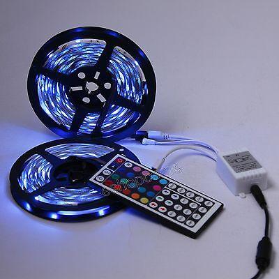 2X5M 5050 SMD RGB 300 LED Band Leiste Streifen licht+ 44Key IR-Fernbedienung