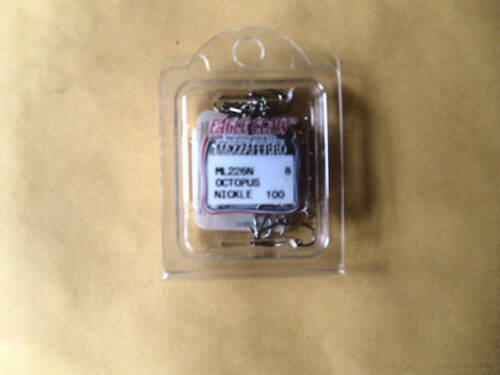 EAGLE CLAW OCTOPUS HOOKS  SIZE 8 BOX 100 PCS FREE USA SHIPPING