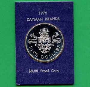 1975-Cayman-Islands-Proof-5-Dollar-Silver-Coin-35-5-Grams-925-Silver