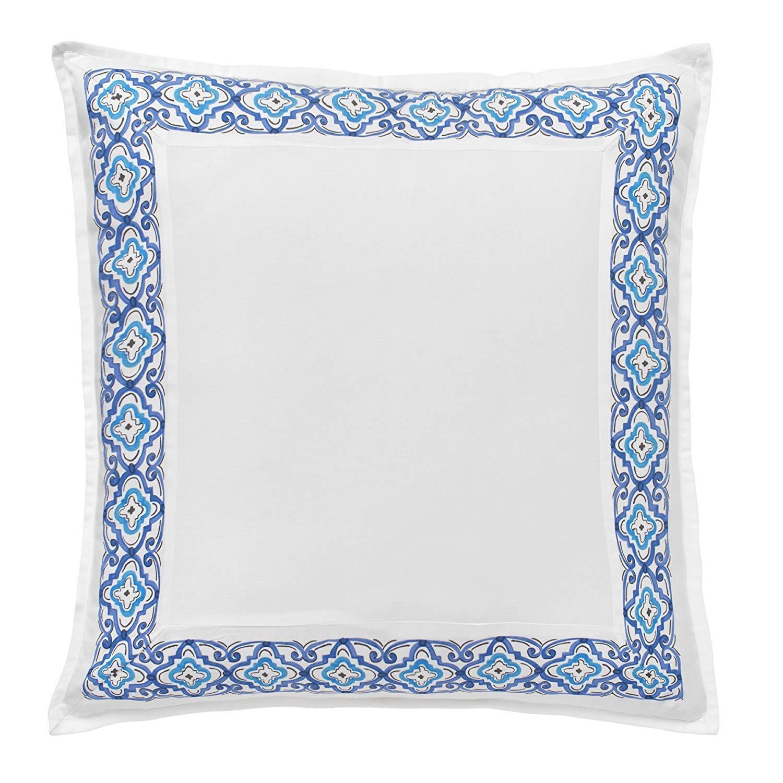 Dena Home Sky European Pillow Shams (2) - White blueeee