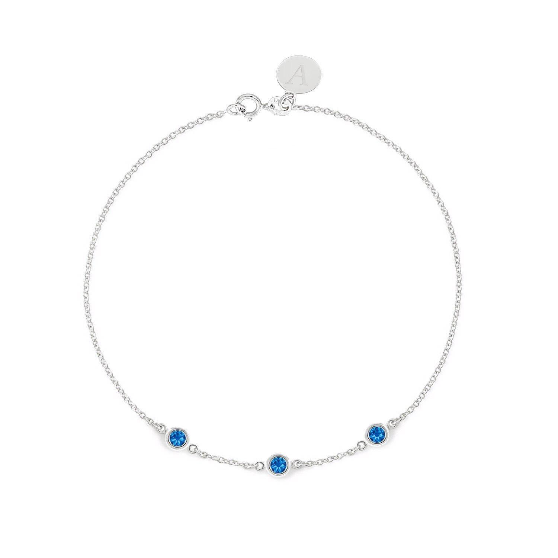 Sapphire Bracelet 14k or 18k gold September Birthstone 0.30ct Nice Jewelry Gift