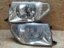 1998 2002 Mitsubishi Pajero Io H76w H77w Silver Chrome Headlight Set Factory Oem