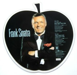 EX-EX-Frank-Sinatra-New-York-New-York-Shaped-Vinyl-Picture-Pic-Disc