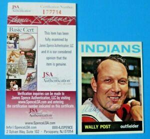 1964-TOPPS-WALLY-POST-SIGNED-BASEBALL-CARD-253-JSA-I77714