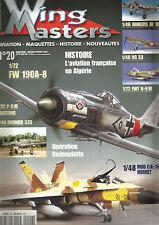 WING MASTERS N° 20 AVIATION FRANCAISE EN ALGERIE / FW190A-8 / JUNKERS JU 188