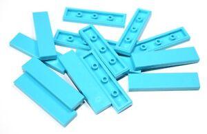 15x LEGO® Fliese/Kachel 1x4 2431 NEU Medium Azure