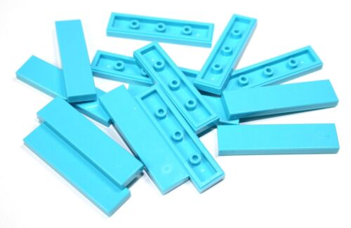 15x LEGO® Fliese//Kachel 1x4 2431 NEU Medium Azure