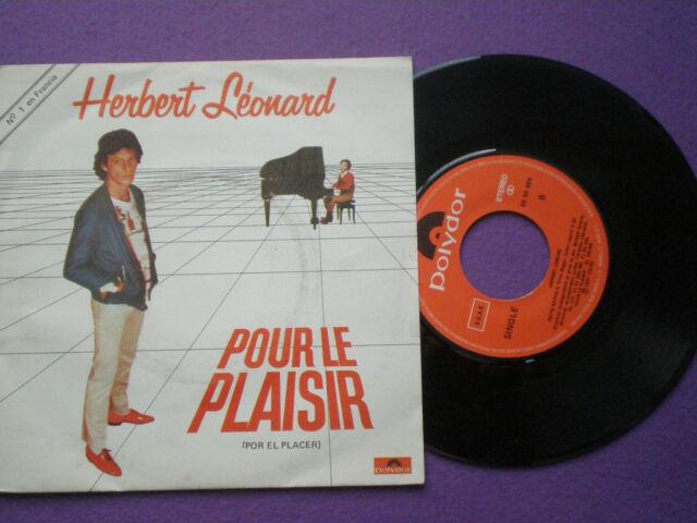 Herbert Leonard Pour le Plaisir Spain 45 1981 Spanish Sub-Title
