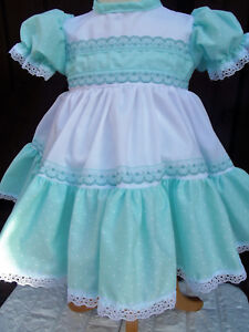50f025435250 DREAM newborn 0-3 3-6 MONTHS BABY white mint summer baby dress 0r ...