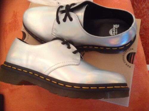 Metallic 1461 Doctor Lazer 6 8 Uk5 Martens Leather Silver 5usa 23552073 5 7 8 6 qfXgHwf