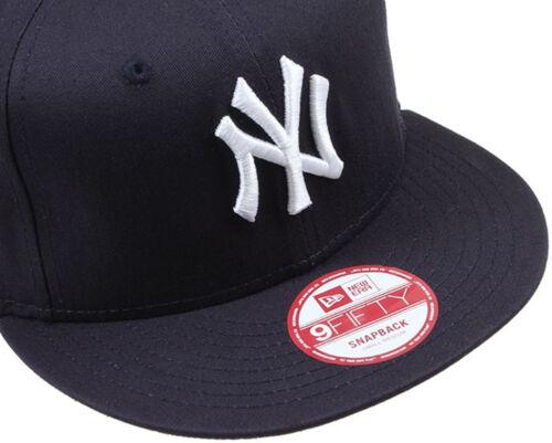 NEW ERA MENS 9FIFTY BASEBALL CAP.NEW YORK YANKEES NAVY FLAT PEAK SNAPBACK HAT 53