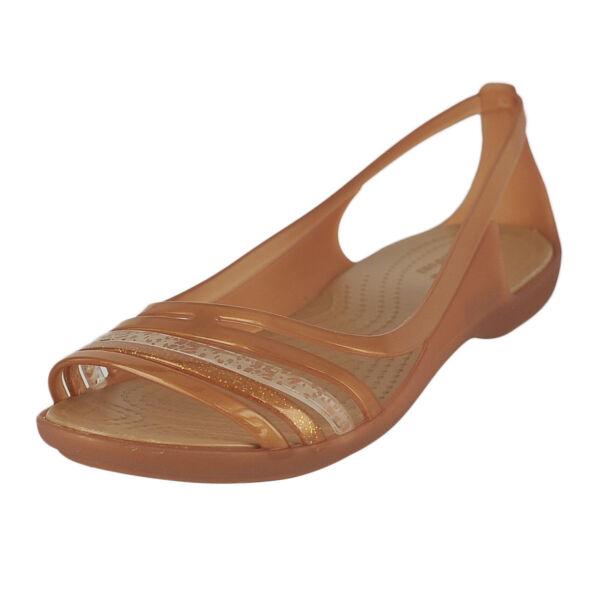 fade424932d9 Crocs Womens Isabella Huarache Flat W Jelly Sandal Bronze 9 M US for sale  online
