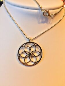 Details about Sacred Geometry Geometric Pendant Necklace Flower Life Silver  Buddhist NEW love