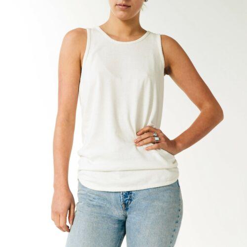 JUNGMAVEN Womens Hemp Cotton Washed White Tank Top