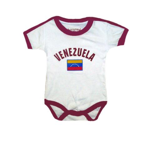 Venezuela World Cup Baby Bodysuit Soccer Futbol Jersey Tshirt Flag Cotton Dressy