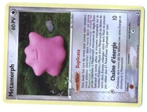 DITTO POKEMON ESPECES DELTA UNCO N°  35//113 METAMORPH