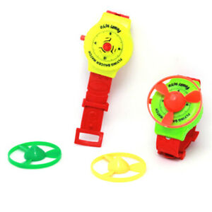 Funny-Toys-Flying-Saucer-Plastic-Watch-Toys-Spinning-Top-Creative-Gift-Game-JCA