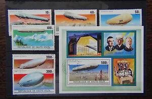Upper-Volta-1976-Zeppelin-set-and-Miniature-sheet-VFU