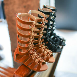 cd14baf601aa Image is loading Fashion-Kids-Girls-Summer-Boots-Children-Roman-Sandals-