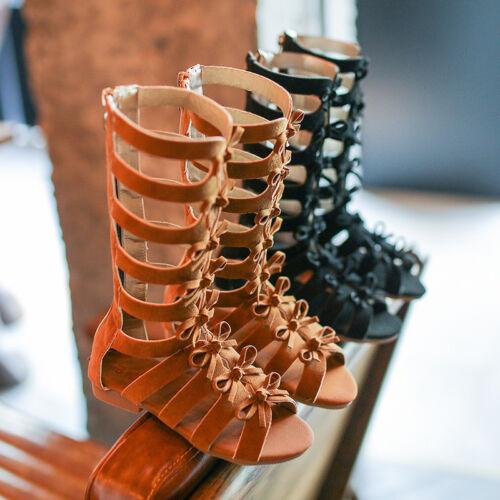 Fashion Kids Girls Summer Boots Children Roman Sandals Toddler Gladiator Sandals
