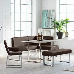 image is loading corner dining set breakfast nook leather bench chairs breakfast furniture
