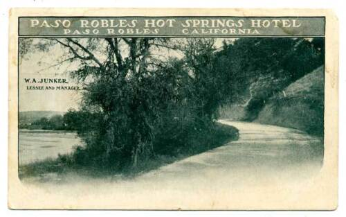 1906 Postcard Paso Robles Hot Springs CA 2