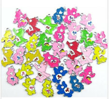 20PCS Mixed Color Care Bears DIY Metal Charms Jewelry Making Pendants Earrings