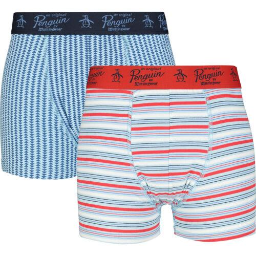 S M L XL ORIGINAL PENGUIN Men/'s Two Pack Mutitcoloured Pattern Trunks