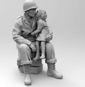 1-35-Resin-US-Soldier-W-German-Girl-Unpainted-Unassembled-BL370