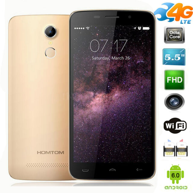HOMTOM HT17 5.5'' LTE 4G Smartphone Android 6.0 OTG OTA 13MP Dual SIM Cellulare