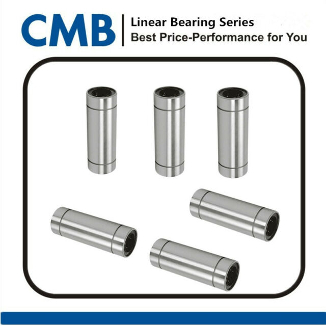 6x LM8LUU Long Linear Motion Ball Bearing Bush Bushing CNC Parts for 8mm Rod New