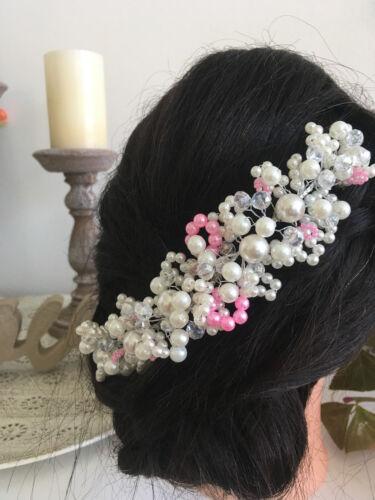 Haarschmuck Haardraht Brautschmuck blau rot türkis rosa grau