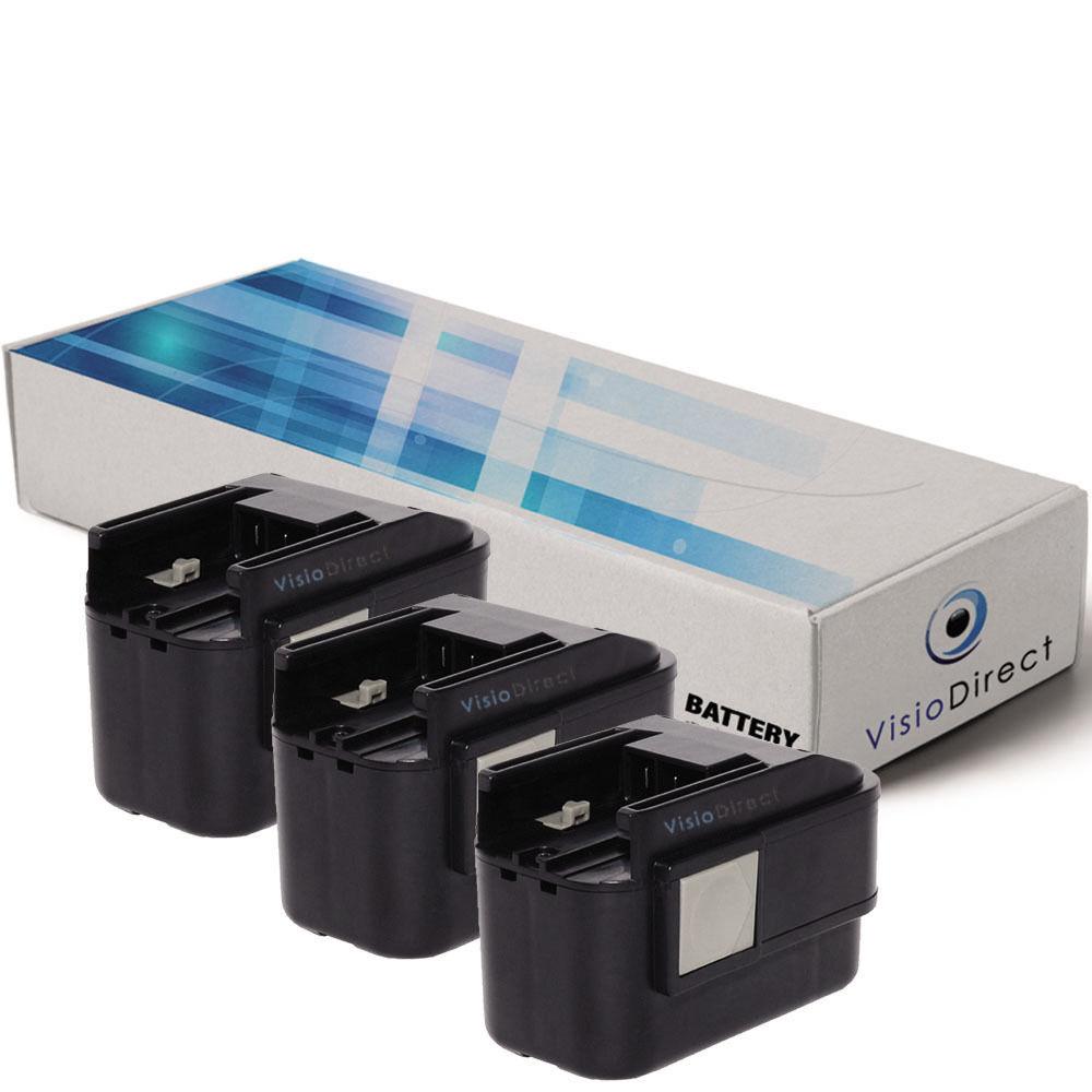 Lot de 3 batteries 9.6V 2000mAh pour Atlas Copco PES 9.6 PES9.6 Milwaukee PCS6T