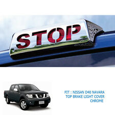 Fit Nissan Navara D40 2005-12 Chrome Third Rear Brake Stop Light Lamp Cover Trim