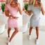 Womens-Oversized-Short-Holiday-Tops-basic-Party-Baggy-UK-Loose-Mini-Dresses thumbnail 1