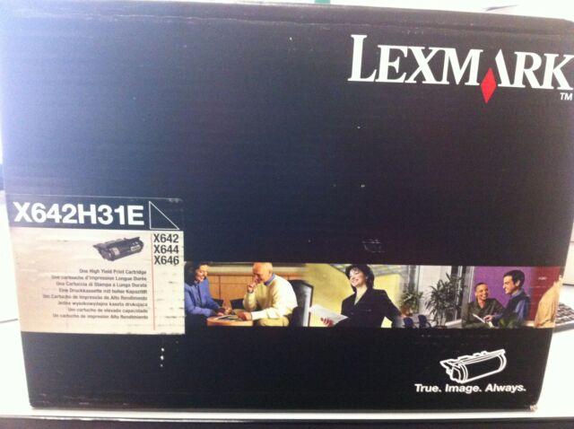 Originale Lexmark X642H31E X644H11E Toner X644 646 X640 Nero NUOVO B